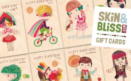 SKiN&BLiSS Birthday Cards