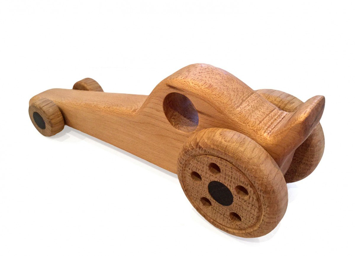 Toft Workshop Dragster Handmade Wooden Gift