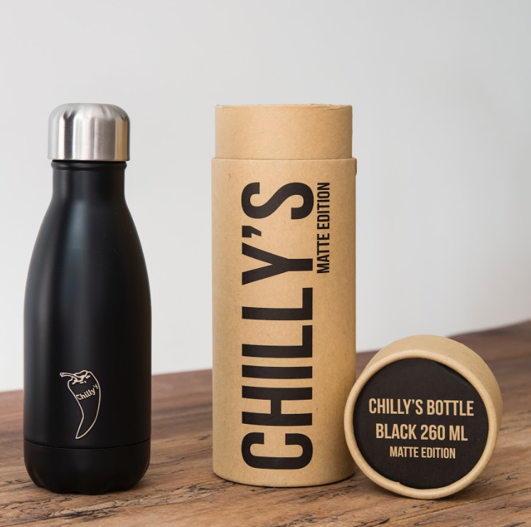 Chilly's Bottles - Monochrome Matte - Black 260ml