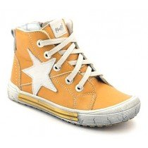 Emel First Shoes - Leather High Tops - Yellow