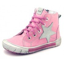 Emel First Shoes - Leather High Tops - Pink