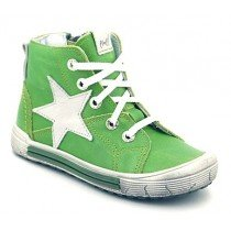 Emel First Shoes - Leather High Tops - Green