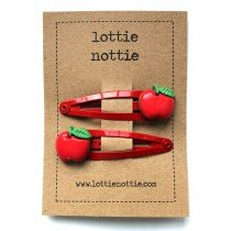 lottie nottie - apple hair clips