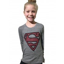 Little Eleven Paris - SUPERMAN - Long Sleeve Tee