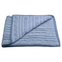 Lilly & Sid - Denim Marl Cable - Baby Blanket
