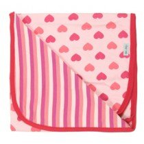 Lilly & Sid - Jersey Hearts & Stripe - Baby Blanket