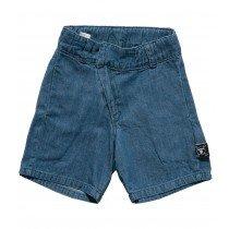 nununu - Diagonal Cotton Shorts - Denim