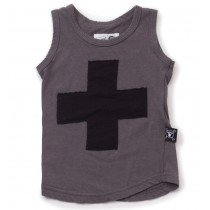 nununu - PLUS PATCH - Tank Top in Dark Grey