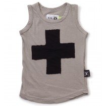 nununu - PLUS PATCH - Tank Top in Light Grey