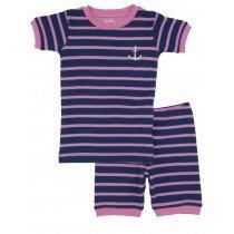Hatley Pyjamas - Girls Short Pyjamas - Pink Stripe