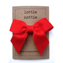 lottie nottie - Classic Red Bow Hair Clip