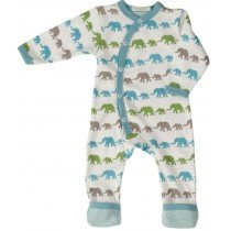 Organics for Kids - Elephant Romper - Multi Coloured