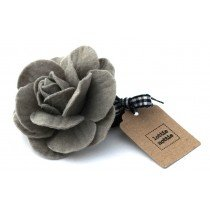 lottie nottie - Grey Felt Flower Hair Band