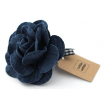 lottie nottie - Navy Felt Flower Hair Band