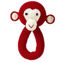anne-claire petit - Crochet Chimp Ring - Red