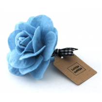 lottie nottie - French Blue Felt Flower Hair Band