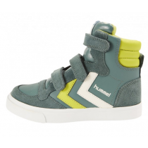 Hummel Trainers - Stadil Leather High Tops - Silver Pine