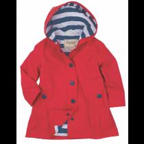 Girls Hatley Raincoat - Red Splash Jacket