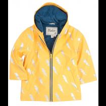 Boys Hatley Raincoat - Yellow Lightening Bolt Splash Jacket