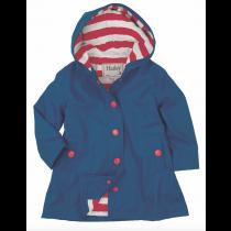 Girls Hatley Raincoat - Navy Splash Jacket