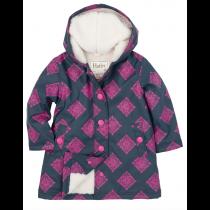 Girls Hatley Raincoat - Sherpa Lined Splash Jacket