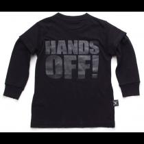 nununu tee shirt in black - HANDS OFF!