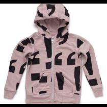 nununu zip hoodie in soft pink - PUNCTUATION