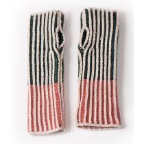 BOBO CHOSES Lambswool Mittens - Bicolour Green