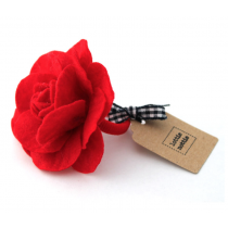 lottie nottie - Red Felt Flower Hair Band