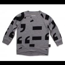 nununu PUNCTUATION! sweater - grey marl