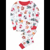 Hatley Girls Pyjamas - Christmas Cats