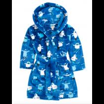 Hatley Boys Dressing Gown - Ski Monster