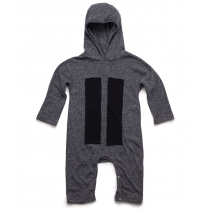 nununu PATCH HOODED Playsuit - Charcoal
