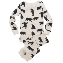 Hatley - Long Sleeve PJ Set - Black Bears