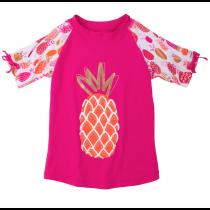 Hatley Girls Short Sleeve Rashguard - Pineapples