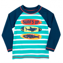 Hatley Long Sleeve Rash Guard - Surfboards