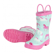 Girls Hatley Wellies - Ponies & Polka Dot