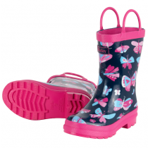 Girls Hatley Wellies - Butterflies