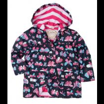 Girls Hatley Raincoat - Butterflies