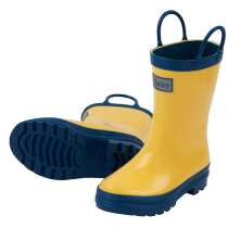 Boys Hatley Wellies - Yellow & Navy