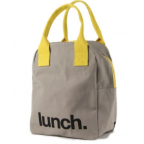 FLUF - ZIPPER ORGANIC LUNCH BAG - Lunch