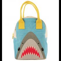 FLUF - ZIPPER ORGANIC LUNCH BAG - Shark