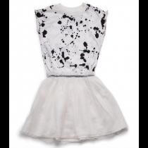 nununu - SPLASH TULLE DRESS - white