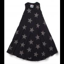 nununu - MAXI STAR DRESS - black