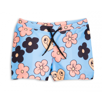 mini rodini - FLOWERS SWIMPANTS - Light Blue