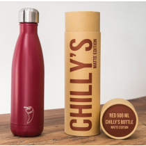 Chilly's Bottles - Matte Red 500ml