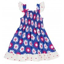 Girls Hatley Flower Smocked Dress - Lady Bug Garden