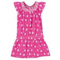 Girls Hatley Layer Smocked Dress - Strawberry Sundae