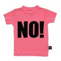 NUNUNU - NO! Short Sleeve Tee Shirt in Neon Pink