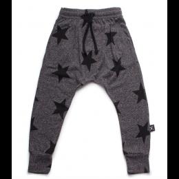 nununu - STAR BAGGY PANTS - charcoal